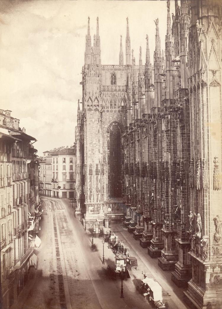Pompeo Pozzi Pompeo Pozzi Veduta del fianco settentrionale del Duomo di Milano
