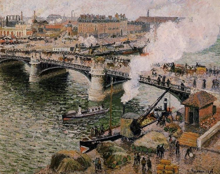 Pont Boieldieu in Rouen, Rainy Weather wwwcamillepissarroorgimagespaintingsthegreat