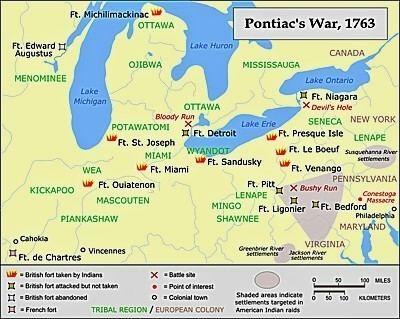 Pontiac's War Bushy Run Last battle of Pontiac39s War
