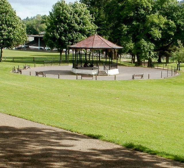 Pontypool Park Pontypool Park bandstand Jaggery ccbysa20 Geograph Britain