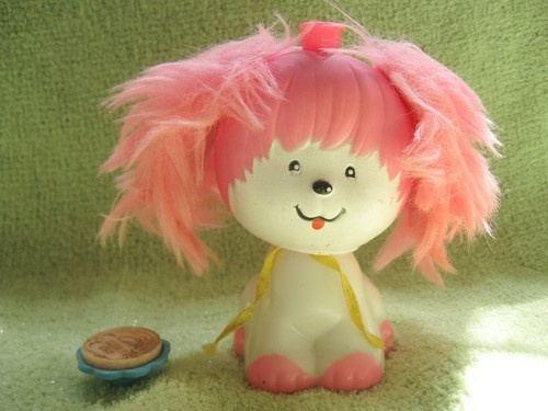 Poochie (toy) POOCHIE Puppy STAMPER STAMP Vintage 1982 MATTEL Dog TOY Doll PINK