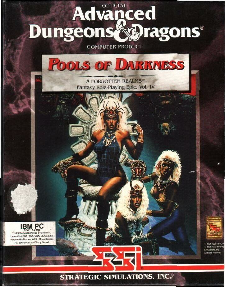 Pools of Darkness Pools of Darkness 1992 Amiga box cover art MobyGames