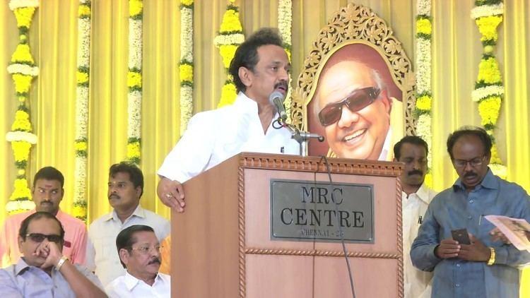 Poongothai Aladi Aruna DMK treasurer MK Stalin takes part in Poongothai Aladi Arunas