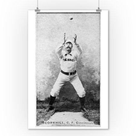 Pop Corkhill Cincinnati Red Stockings Pop Corkhill Baseball Card 9x12 Art