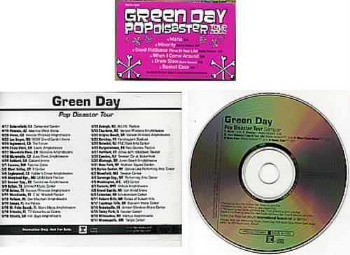 Pop Disaster Tour Green Day Pop Disaster Tour Sampler USA Promo 5 Cd Single PROCD