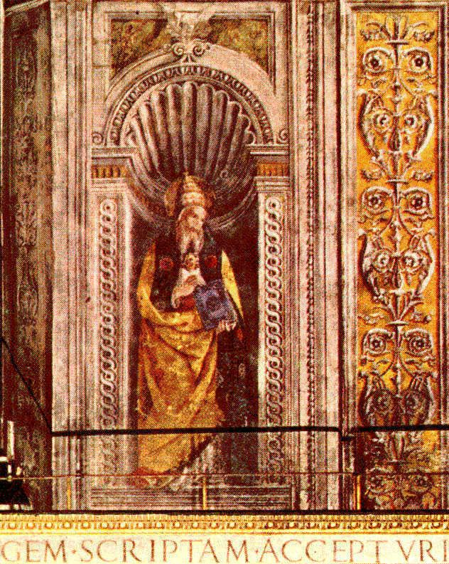Pope Anicetus AF Popes on the Life of Moses Wall
