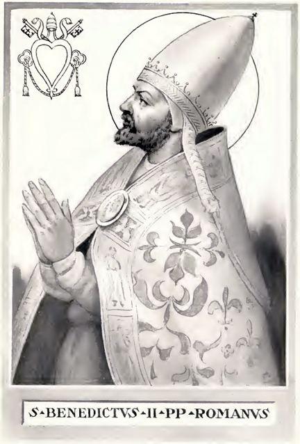Pope Benedict II FilePope Benedict IIjpg Wikimedia Commons