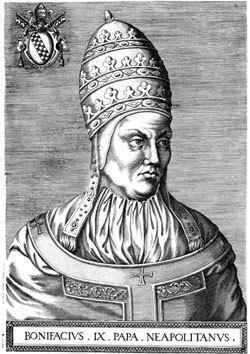 Pope Boniface IX wwwcatholicorgfilesimagessaints912jpg