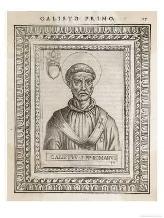 Pope Callixtus I a year of prayer 365 Rosaries October 14 Pope Saint