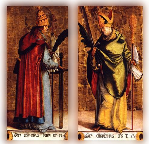 Pope Cornelius St Cornelius Pope and Martyr and St Cyprian Bishop and Martyr