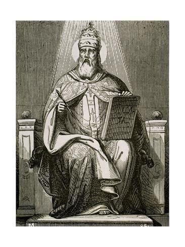 Pope Damasus I Saint Damasus I 304384 Roman Pope 366384 Giclee