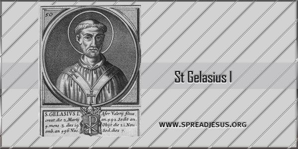 Pope Gelasius I St Gelasius I Pope c496 Saint of the day November 21