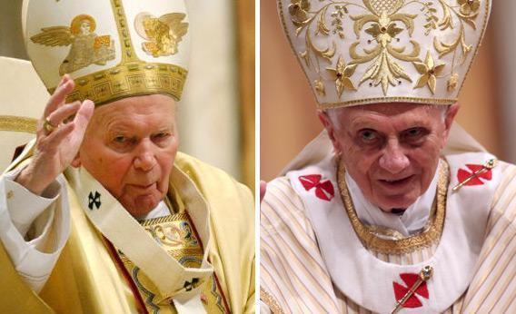 Pope John Paul II (miniseries) movie scenes Pope John Paul II and Pope Benedict XVI