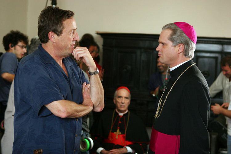 Pope John Paul II (miniseries) movie scenes John Kent Harrison directs Cary Elwes in a scene from Pope John Paul II The