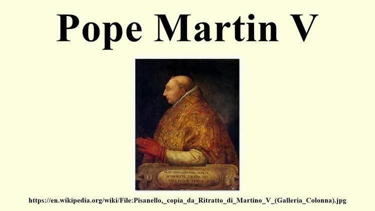 Pope Martin V Pope Martin V YouTube