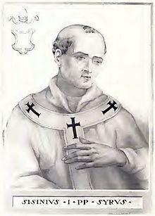 Pope Sisinnius httpsuploadwikimediaorgwikipediacommonsthu