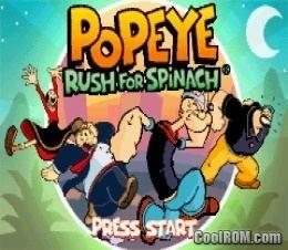 Popeye: Rush for Spinach coolromcomscreenshotsgbaPopeye2020Rush20fo