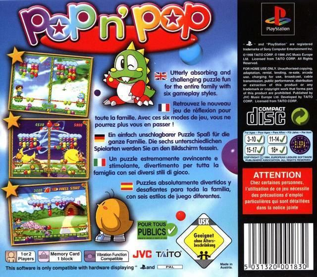 Pop'n Pop Pop 39n39 Pop Box Shot for PlayStation GameFAQs