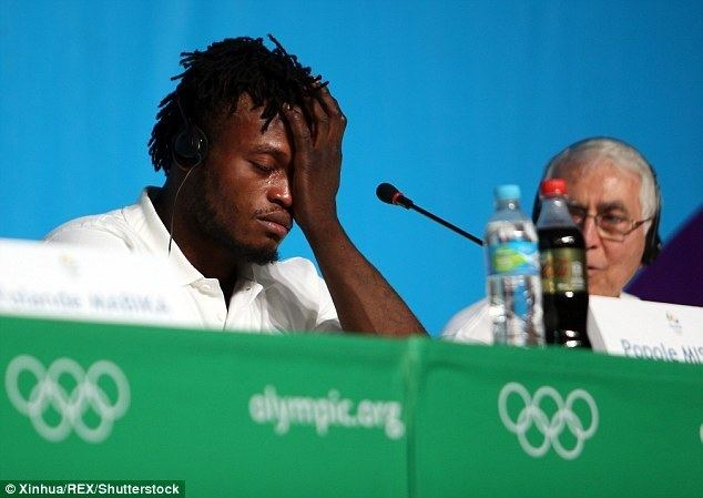 Popole Misenga Refugee Popole Misenga breaks down in tears ahead of the Rio 2016