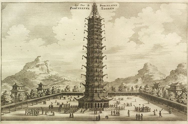 Porcelain Tower of Nanjing Famous Porcelain Tower of Nanjing Rebuilt Amusing Planet