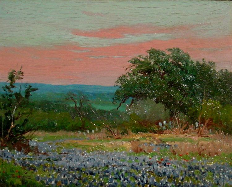 Porfirio Salinas Porfirio Salinas Bluebonnet 439 Texas Art Vintage