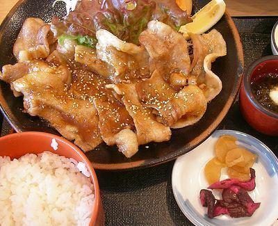 Pork shogayaki httpsuploadwikimediaorgwikipediacommons66