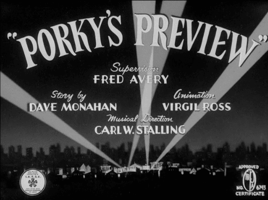 Porky's Preview Likely Looney Mostly Merrie 324 Porkys Preview 1941