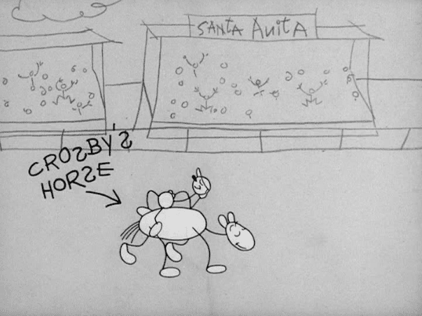Porkys Preview movie scenes Synopsis Porky sets up a movie preview of his own and his film takes us into a different amateurish animated world
