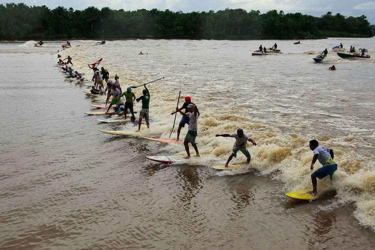 Pororoca Pororoca surfing festival in Brazil
