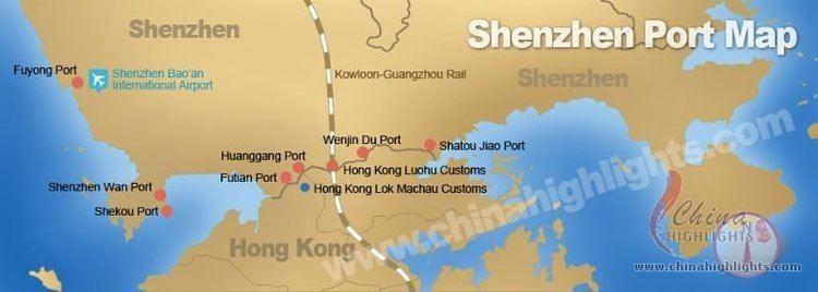 Port of Shenzhen Shenzhen Maps Maps of Port Subway City of Shenzhen