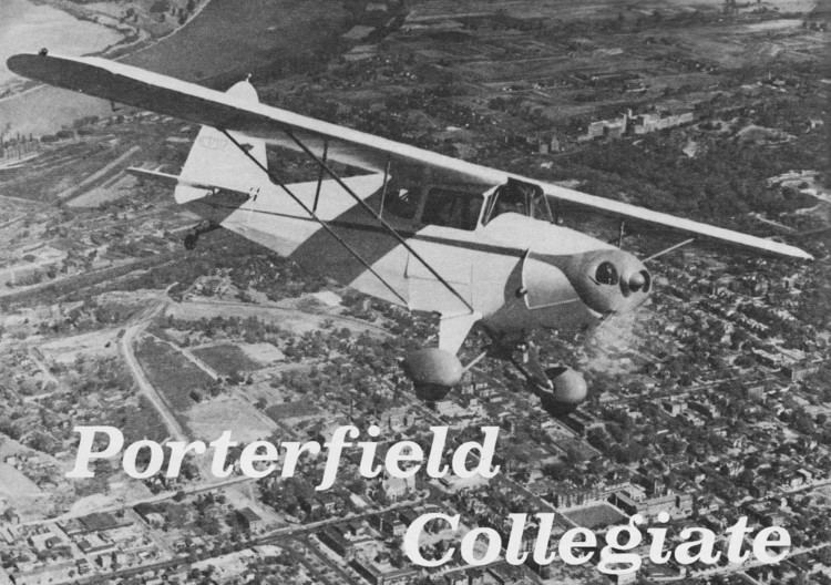 Porterfield Collegiate Collegiate August 1968 American Aircraft Modeler Airplanes and
