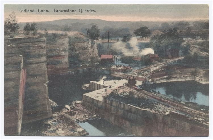Portland Brownstone Quarries Connecticut Brownstone Quarry Postcard Photos