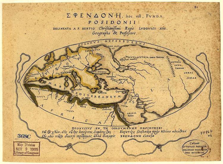 Posidonius The map of the world according to Posidonius 1st c BCE