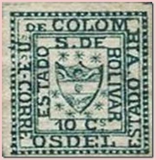 Postage stamps and postal history of Bolívar