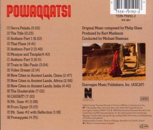 Powaqqatsi Philip Glass Powaqqatsi 1988 Film Amazoncom Music