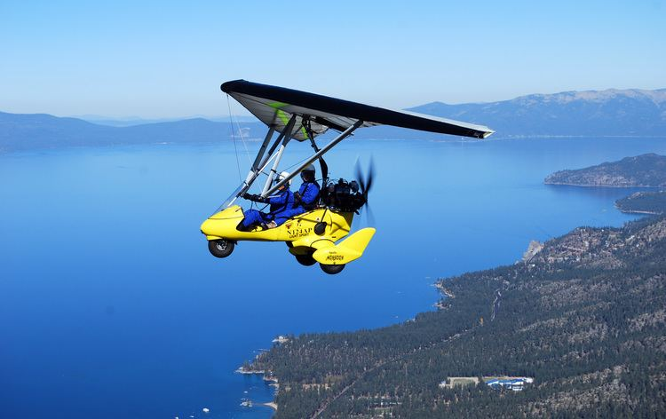 Powered hang glider Powered Hang Gliding Lessons Above Lake Tahoe