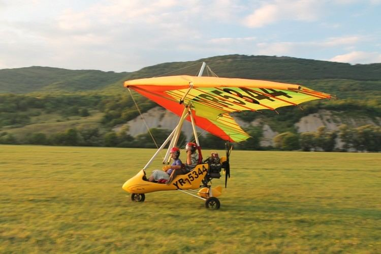 Powered hang glider My flight in a powered hang glider YouTube