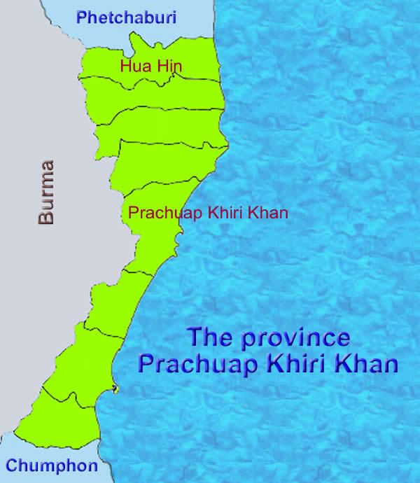 Prachuap Khiri Khan Province Tourist places in Prachuap Khiri Khan Province