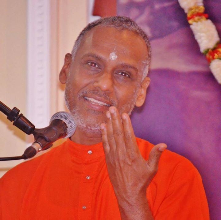 Prakashananda (Chinmaya Mission) Swami Prakashananda of Chinmaya Mission Trinidad and Tobago at