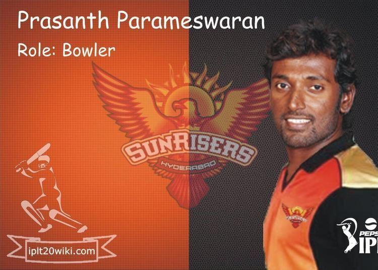 Prasanth Parameswaran Prasanth Parameswaran SunRisers Hyderabad SRH IPL