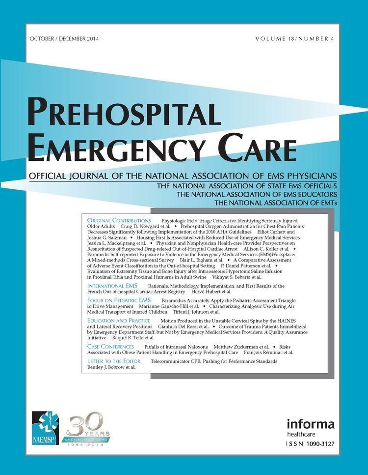Pre-hospital emergency medicine wwwnaemsporgPublishingImagesUPECI1804COVER