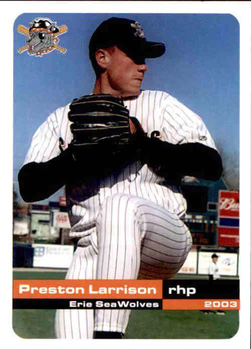 Preston Larrison 2003 Erie Sea Wolves Grandstand 3 Preston Larrison Aurora Illinois
