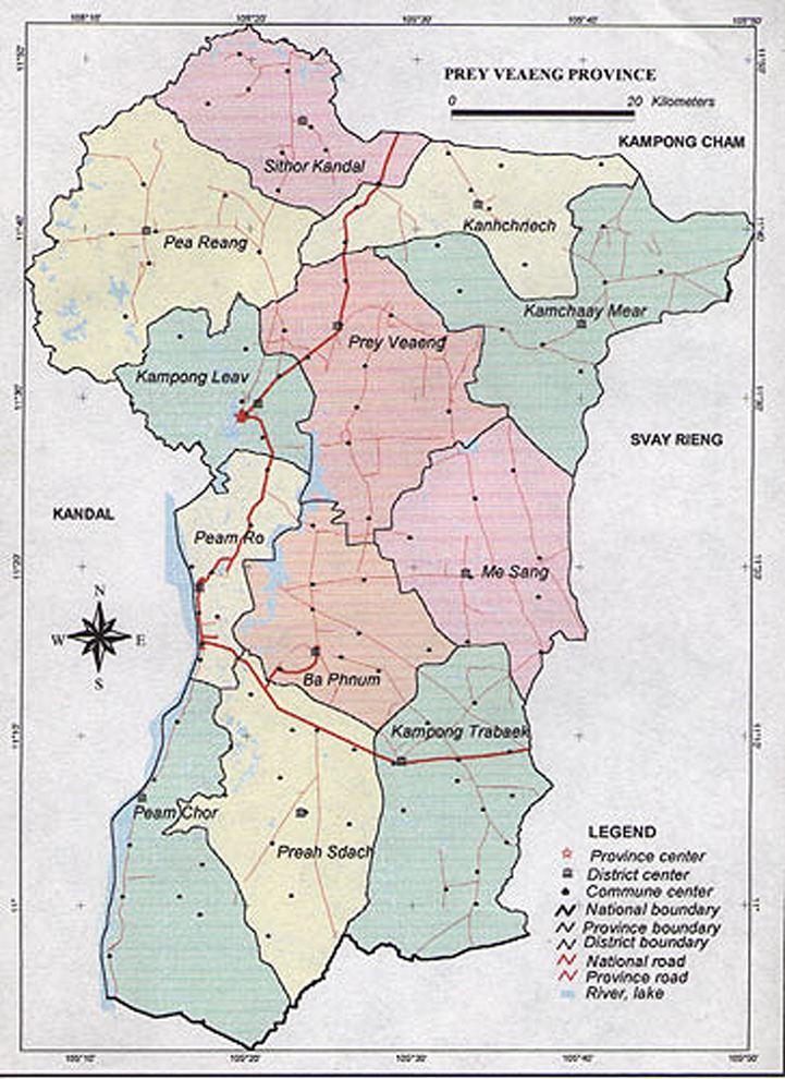 Prey Veng Province in the past, History of Prey Veng Province