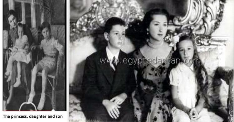 Prince Abbas Hilmi With son and daughter Prince Abbas Hilmi and Princess Iqbal