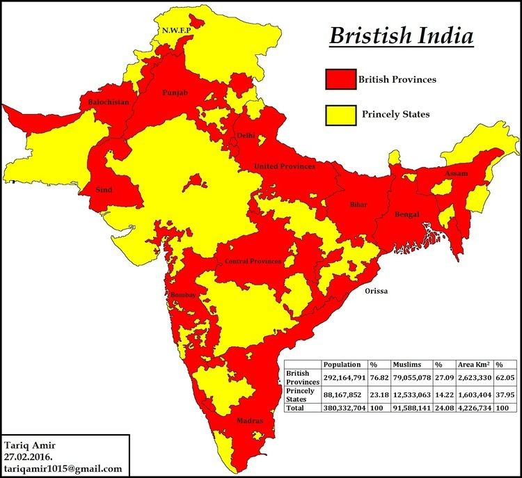 Princely state Pakistan Geotagging Muslim Princely States Of India