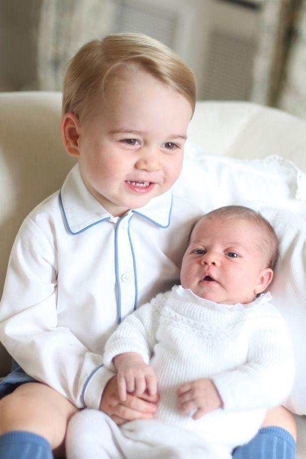 Princess Charlotte of Cambridge First public pictures of Princess Charlotte and Prince