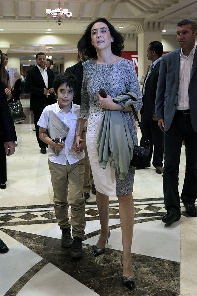 Princess Rym al-Ali Princess Rym Ali of Jordan and her son Abdullah arrive for
