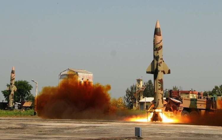 Prithvi (missile) India successfully conducts twin trial of PrithviII missile The