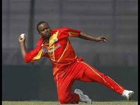 Prosper Utseya (Cricketer) playing cricket