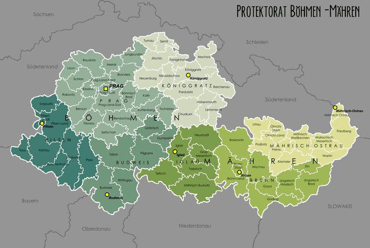 Protectorate of Bohemia and Moravia Big Blue 18401940 CzechoslovakiaGerman Protectorate of Bohemia